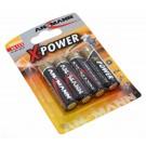 4er Blister Ansmann X-Power Alkaline Batterie Mignon AA LR6, 1,5V