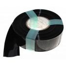 1 Meter Hart PVC Schrumpfschlauch, 53mm Flachmass, 0,08mm Wandstärke, schwarz