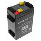 6V Blei-Akku mit 5 Ah Kapazität passend für den Tchibo TCM Akkusauger 217465 ersetzt den Original verbauten PowerOne KT645 6 Volt Akku mit nur 4,5 Ah Kapazität