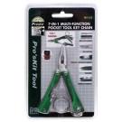 Pro´sKit MS-325 Multifunktions Schlüsselanhänger Werkzeug, Multitool im Taschenformat, 7 in 1 Werkzeugsset