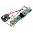 Original AEG Electrolux Elektronik Modul, Leiterplatte mit Drähten, Teilenummer 140022564656 für Handstaubsauger, Staubsauger mit schwarzer Gehäuseunterseite