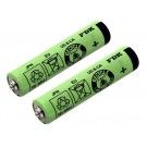 2x AAA Akku Zellen passend für Braun Silk&Soft LS 5560 und LS 5500 Ladyshaver - Type 5328