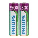 2x Philips Akku für Avent SCD 560 Babyphone mit 2500mAh Akku-Kapazität