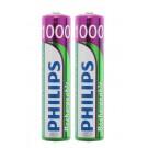 2x Philips Akku passend für Avent SCD505, SCD510, SCD520 und SCD525 Babyphone