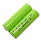 Alternatives Akku Pack mit 2,4 Volt passend für elektrische Gesichtsbürste Clarisonic Mia 2 mit 2200mAh