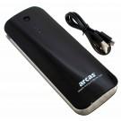 Arcas V206 Powerbank externer Akku mit Taschenlampenfunktion, USB + Micro-USB, 13000mAh