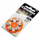 6er Pack Camelion Knopfzelle, Batterie A13, PR48, A13-BP6, für Hörgeräte, 1,4V, 280mAh, 13HPX, R13ZA, L13ZA, ME8Z, ME13Z, AC13, B0134, PR13, 13HP