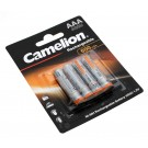 4er Pack Camelion Ni-Mh Akku, AAA, 1,2V, 600mAh, NH-AAA600-BP4, HR03, Micro, DECT-Schnurlostelefon, Fotoapparat