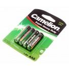 Camelion Super Heavy Duty Micro Batterie AAA, 1,5V, 550mAh, R03P-BP4G, UM4, R03,  24D, 24F, Fernbedienung
