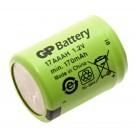 GP Battery GP 17AAAH Spezial-Akku, 1/3 AAA, Flat-Top, NiMH mit 1,2 Volt und 170 mAh Kapazität