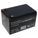 Multipower MP12-12 Blei Gel Akku AGM, 4,8mm Faston Anschluss, 12V, 12Ah