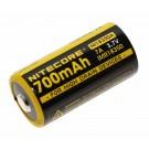 NiteCore NI18350A IMR18350 Li-Ion Akku, hochstromfähig, ungeschützt, Button Top, 3,7V, 700mAh