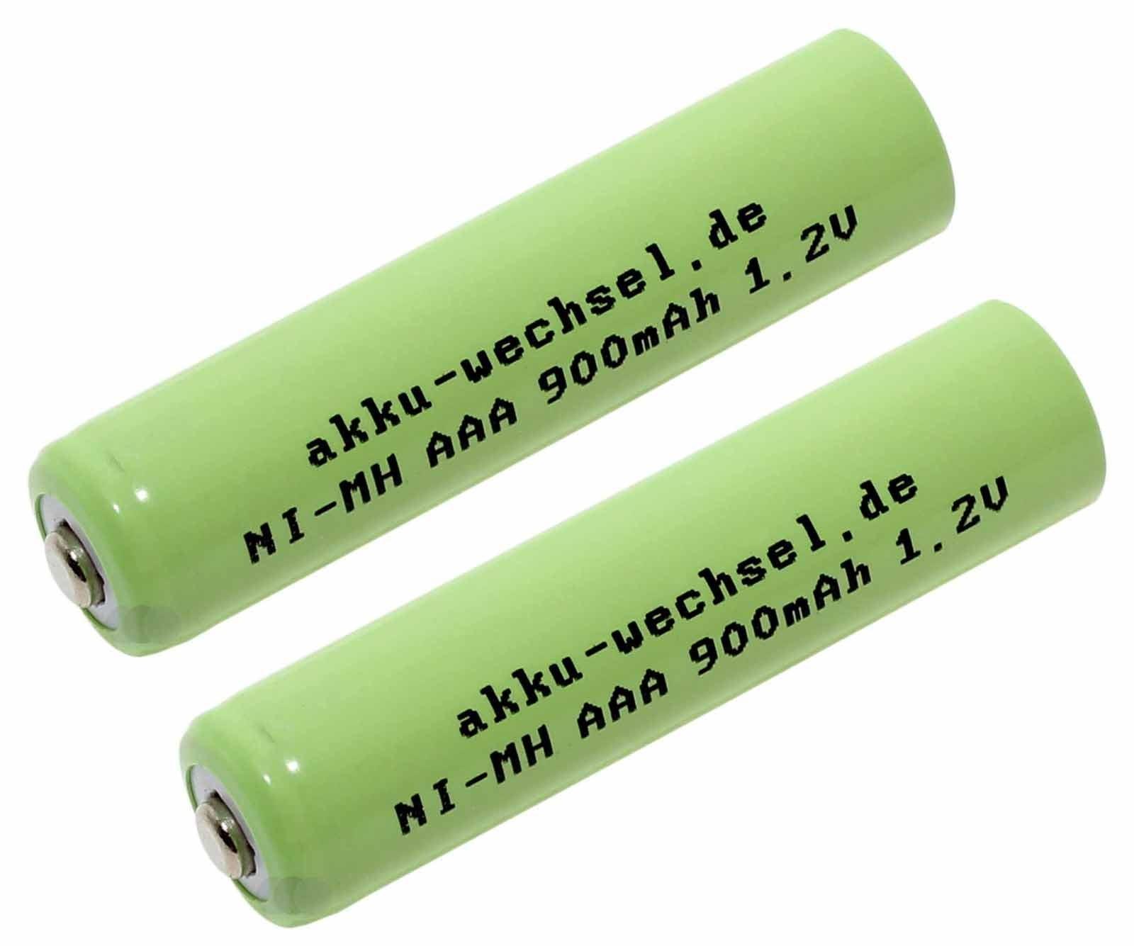 2x AAA NiMH Akku für Siemens Gigaset A400, C320, E360, SX455 u.a. DECT Telefone, 1,2V, 900mAh