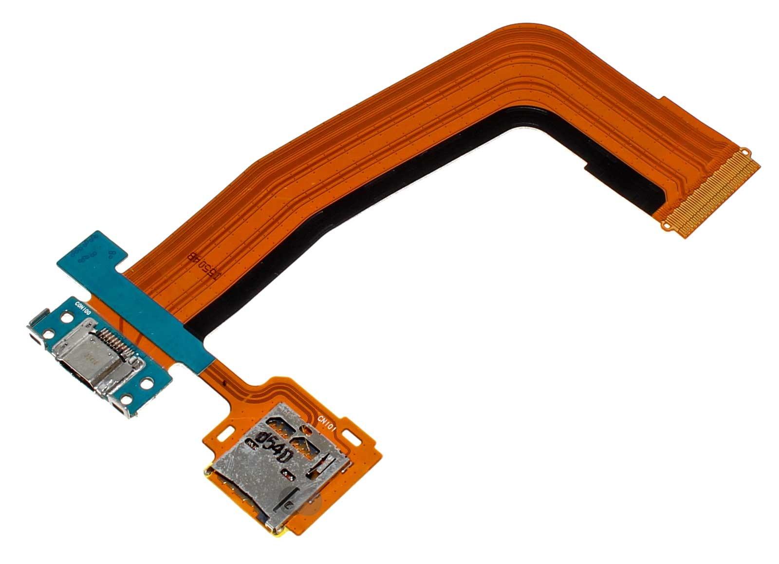 Micro USB Ladebuchse + Micro SD Kartenleser Flex Kabel für Samsung Galaxy Tab S 10.5, Ersatzteil FPCB REV0.8