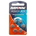 6er Pack Rayovac Knopfzelle Batterie Typ13 | PR48 | für Hörgeräte | hearing aid | 1,45 Volt