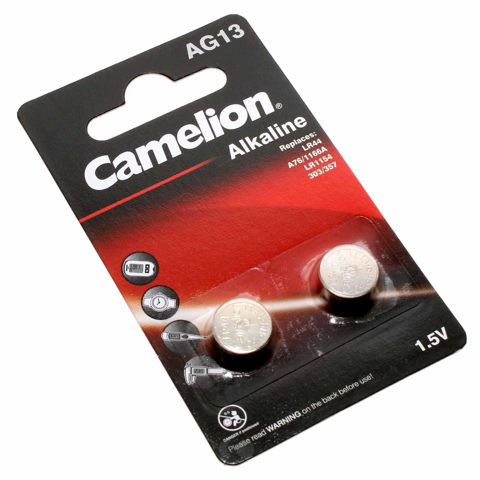 2er Pack Camelion AG13 Alkaline Knopfzelle Batterie 1,5V ,138mAh, AG13-BP2 (0%Hg), Fernbedienung, Spielzeug