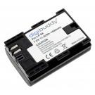 Alternativer Li-Ion Akku für Canon DSLR Digitalkameras, Fotoapparate mit 7,4 Volt und 1600mAh Kapazität, inklusive Schutzkappe, ersetzt die original Akkus LP-E6, LP-E6N