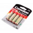 4er Pack Camelion Plus Alkaline Batterie 1,5V, AA, Mignon, 2700mAh, Taschenlampe LR6-BP4 ersetzt LR6, AM3, MN1500, E91