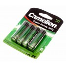 4er Pack Camelion Super Heavy Duty Mignon Batterie AA, 1,5V, 1220mAh, R6P-BP4G, R6P, UM3, Fernbedienung