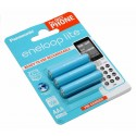 3er Pack Panasonic eneloop lite HR03 AAA Micro Akku NiMH | BK-4LCCE/3DE | 1,2V 550mAh