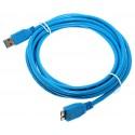 3m Micro USB 3.0 Daten Lade Kabel | Stecker Typ A auf Stecker Typ B