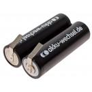 2,4 Volt Akku für Philips HQ8830, HQ8850, HQ8870, HQ8890 u.a., NiMH, 2200mAh