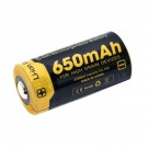 NiteCore Spezial-Akku 16340 RCR123A, Li-Ion, NL166 mit 3,7 Volt und 650 mAh Kapazität